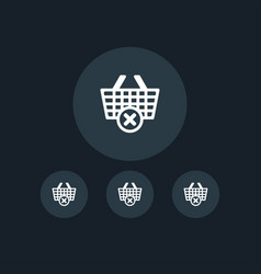 Cart icon online shopping simple vector