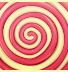 classic lollipop background round red vector image vector image