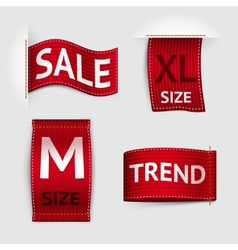 Clothing labels set vector