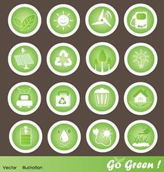 Eco Friendly Icons Set Go Green vector image vector image