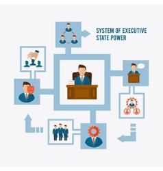 Executive concept flat vector