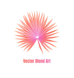 exotic leaf vector image vector image