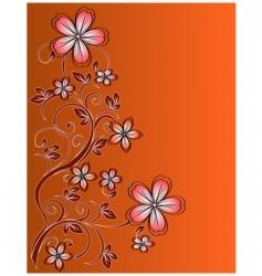 floral vector decor vector image