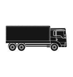 Freight car single icon in black style for design vector