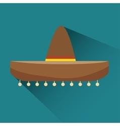 Icon hat mexican design vector