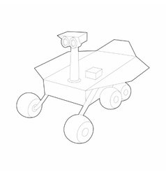 Mars exploration rover icon outline style vector