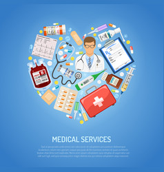 medicine and healthcare concept vector image