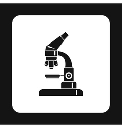 Microscope icon in simple style vector image