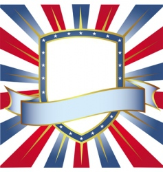 new frame usa colors shield vector image