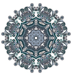Ornament round ornamental geometric doily vector