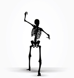 Skeleton silhouette in intimidating pose vector