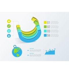 Solid business graph infographics vector image
