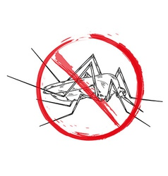 stop mosquito vector image