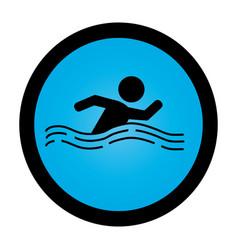 Swiming athlete silhouette icon vector