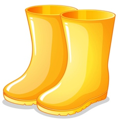 The yellow rubber boots vector