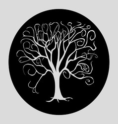 Tree black vector