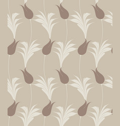 Turkish tulip seamless pattern vector