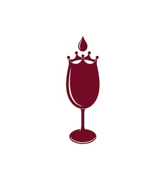 Wineglass logo vector