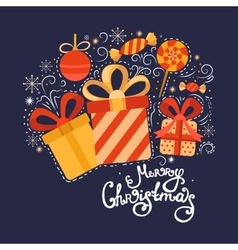 Christmas collection gifts vector