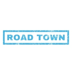 Road town rubber stamp vector