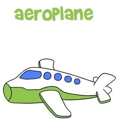 Aeroplane cartoon art vector
