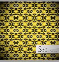 Floral mesh loop gold vintage geometric seamless vector