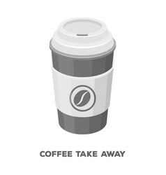 A cup of coffee to takeawaydifferent types of vector