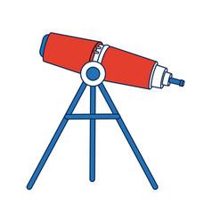 Telescope education and astronomy element spyglass vector