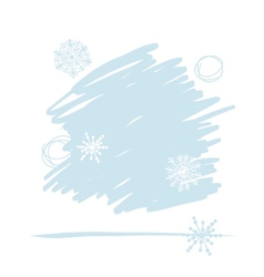 Abstract background with snowflakes for your vector