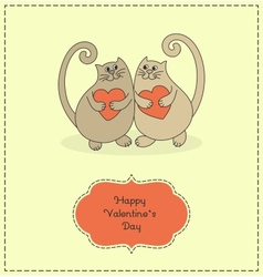 Cats in love vector image