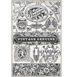 Vintage Hand Drawn Retro Labels vector image