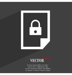 File locked icon symbol flat modern web design vector