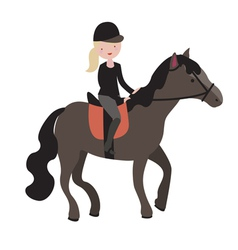 Young girl parade rider vector
