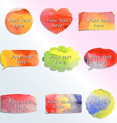 Colorful clouds design elements vector