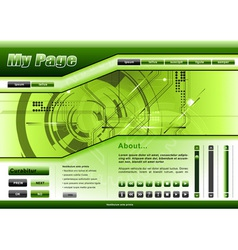 Web template tech theme vector