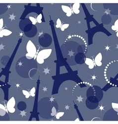 Fashion seamless background on blue vector