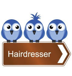 Bird hair sign vector