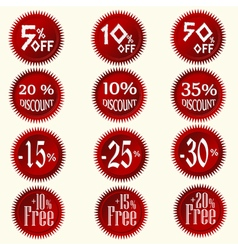 Discount stickers set vector