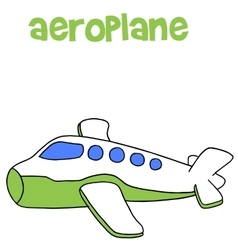 Aeroplane cartoon art vector