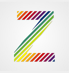 Alphabet Letter Z vector image vector image