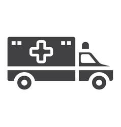 ambulance glyph icon medicine and healthcare vector image
