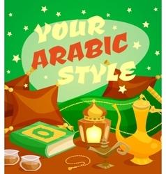 Arabic culture concept vector
