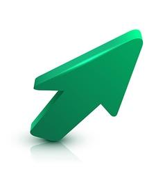 Arrow 3D vector image vector image