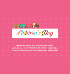 Background children day style collection vector