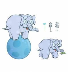 balancing elephant vector image vector image
