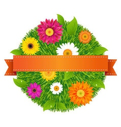 Ball With Flowers vector image vector image