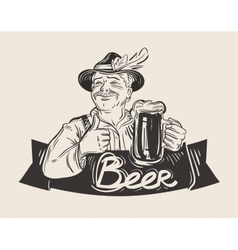 Beer ale logo design template oktoberfest vector