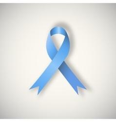 Blue awareness ribbonribbon vector image