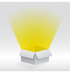 box with light vector image vector image
