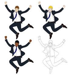 Business man jumping vector